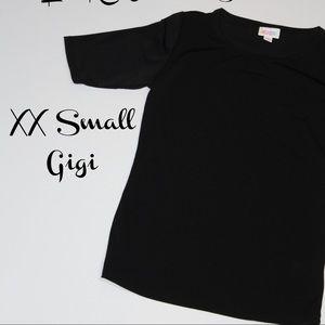 LuLaRoe XXS Black Gigi Top